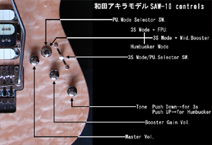 AKIRA WADA MODEL (SAW-10) controls
