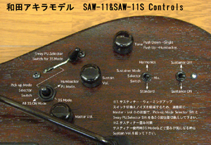 AKIRA WADA MODEL (SAW-11&SAW-11S) controls